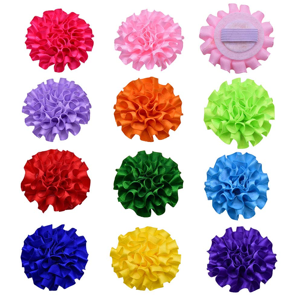 20pcs Removable Pet Collar Charms Pet Dog Cat Collar Accessories Bowties Fashion Flower Style Pet Supplies Grrooming Products