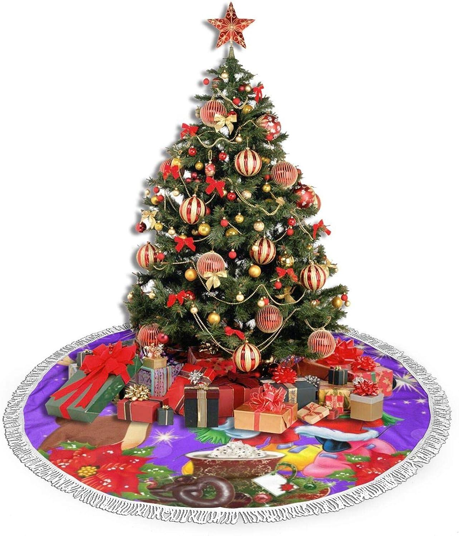 91,4 121,9 cm gro/ße Weihnachtsdekoration Urlaub Party Decor Ornaments30 GmCslve Cartoon Mickey Minnie Weihnachtsbaum Rock 76,2