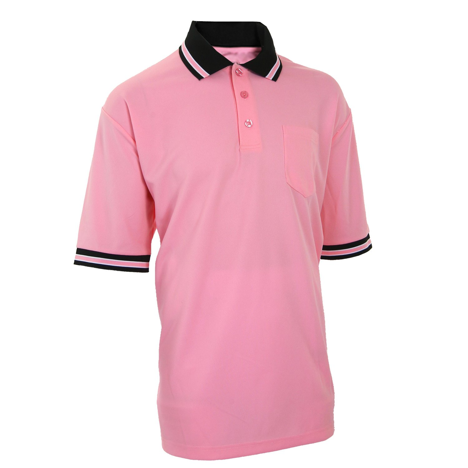 Adams USA Smitty Major League Style Short Sleeve Umpire Shirt with Front Chest Pocket (Pink, 4X-Large)