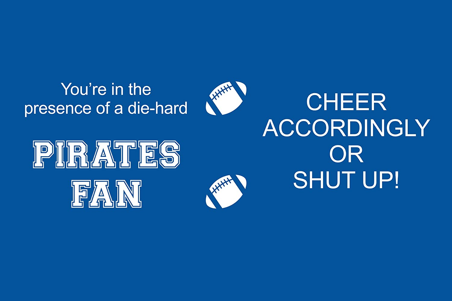 Tree-Free Greetings sg24448 Pirates College Football Fan Sip N Go Stainless Steel Lined Travel Tumbler 16-Ounce