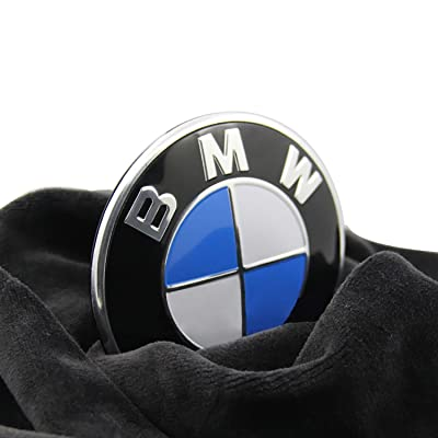 Trooer Emblem Logo Replacement for BMW Hood/Trunk 82mm for All Models E30 E36 E34 E60 E65 E38 X3 X5 X6 3 4 5 6 7 8: Automotive