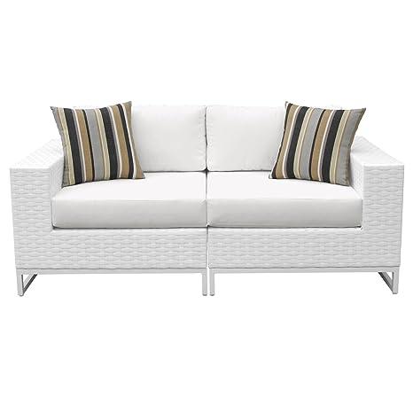 Amazon.com: Miami 2 piezas Muebles de mimbre al aire última ...