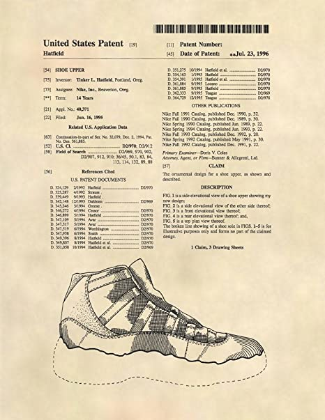 Amazon.com: Patent Prints - Air Jordan Retro 11 Sneaker Art - Patent Art  Poster (8.5 x 11