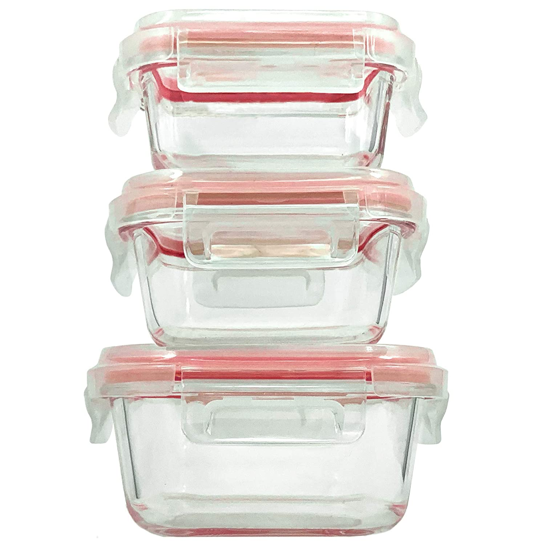 Home Fleek - Envases de Vidrio para Alimentos | 3 Recipientes + 3 ...
