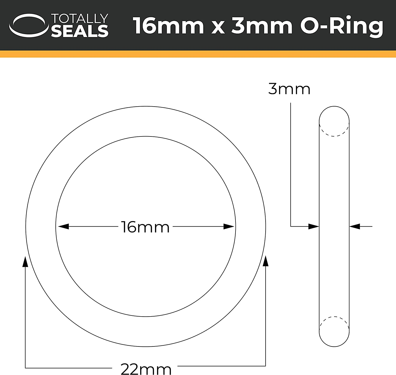 14mm Inner Diameter Silicone ID VMQ O-Rings Rubber 55A Metric Seals
