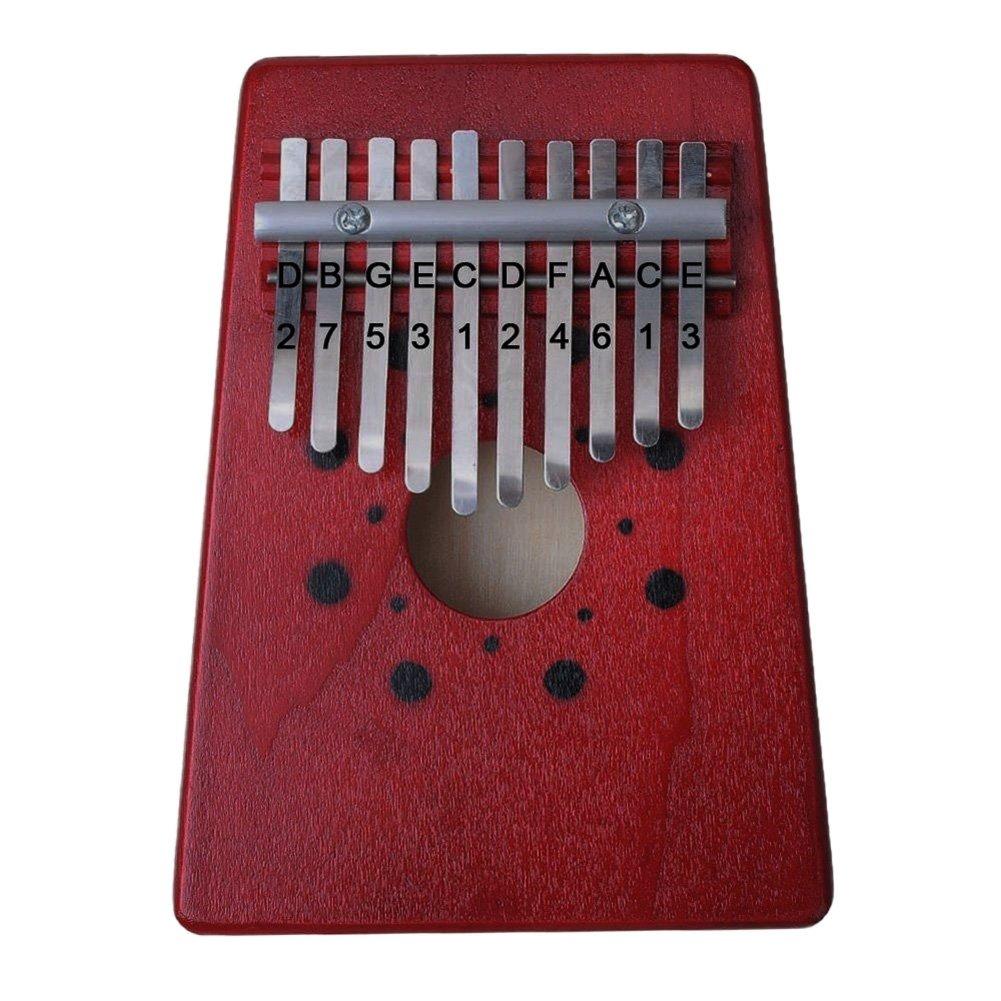 Piano rojo pulgar de 10 tonos con sonido, acompañamiento instrumental de una sola placa aaerp KT33C17FV31L7F5F
