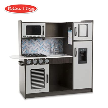 """60692c37f Melissa   Doug Wooden Chef s Pretend Play Toy Kitchen With """"Ice"""" Cube  Dispenser"""