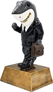 Sales Shark Trophy - Salesperson Success Award - 6 Inch Tall - Engraved Plate Upon Request