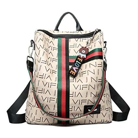 Las mujeres de cuero suave mochila multifunción de gran capacidad de doble uso bolso de hombro