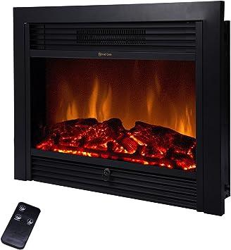 Amazon Com Beamnova 28 Inch Electric Fireplace Black Freestanding