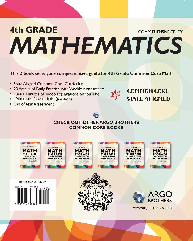 Worksheet 4th Grade Math Workbooks argo brothers math workbook grade 4 common core multiple choice 4th 2018 edition 9781946755032 amazon