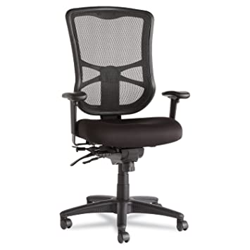 Alera EL41ME10B Alera Elusion Series Mesh High Back Multifunction Chair,  Black