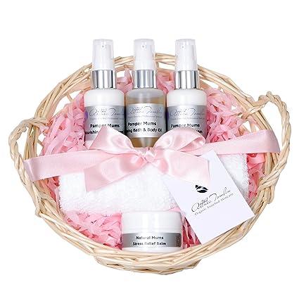 Set de regalo con cesta, aceites corporales y cremas para ...
