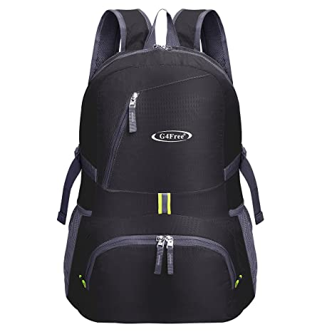 G4Free 30L Ultra Lightweight Tear   Water Resistant Foldable Backpack  Packable Rucksack for Travelling b4c770c8d5f01