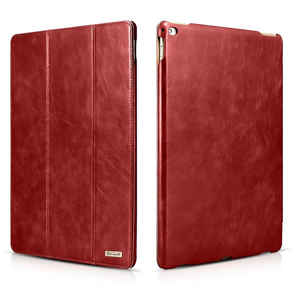 iPad Pro12.9 Leather Case Stand Function Smart Cover with [Auto Wake/ Sleep] Function for Apple iPad Pro 12.9 inch(Red)