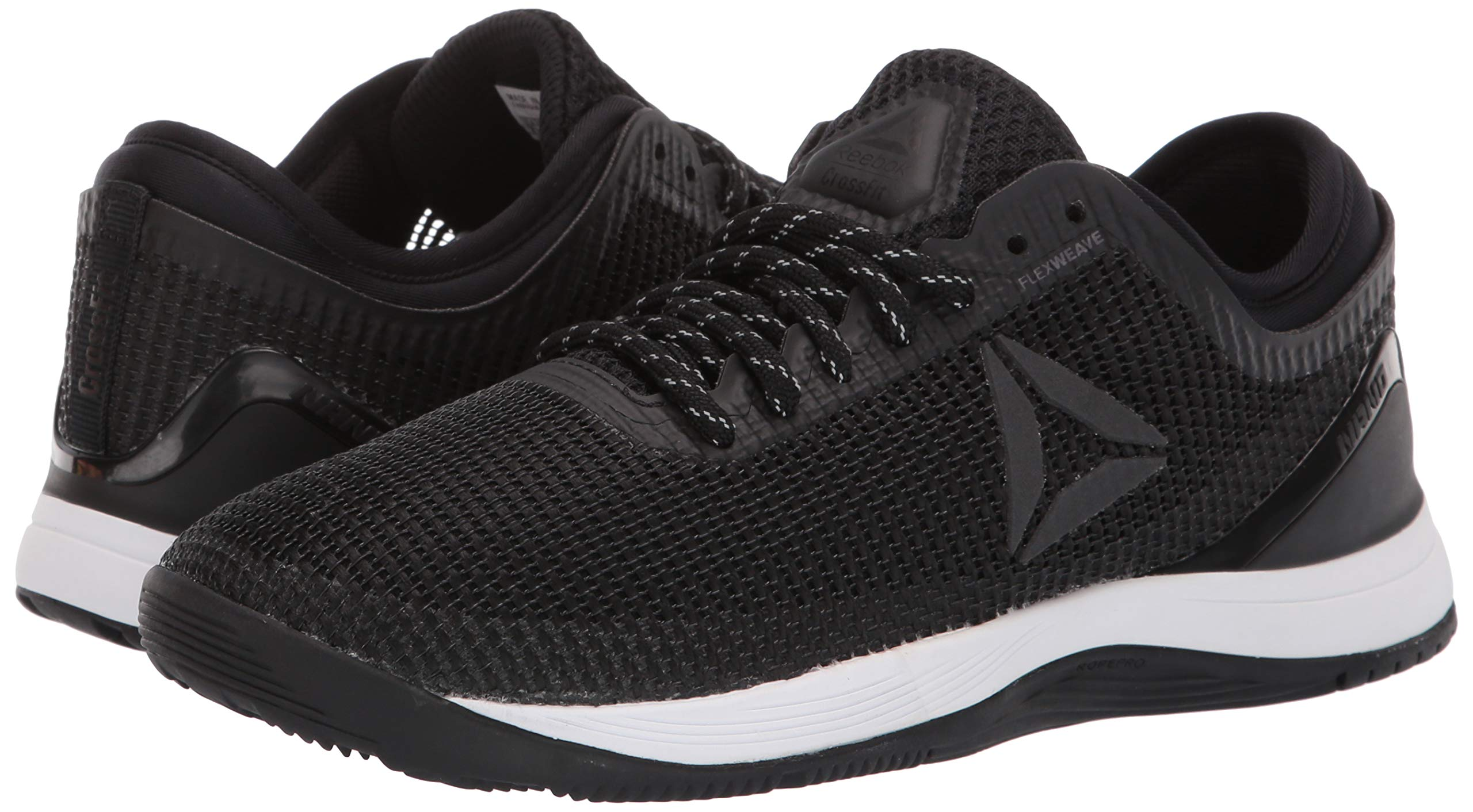 Reebok Women's CROSSFIT Nano 8.0 Flexweave Cross Trainer, Black/White, 5 M US by Reebok (Image #5)