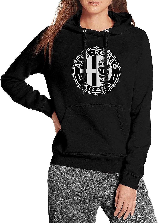 Women Alfa-Romeo- Fleece Wool Warm Hoodie Sweatshirt Casual Pullover Hoodie Sweater Hooded