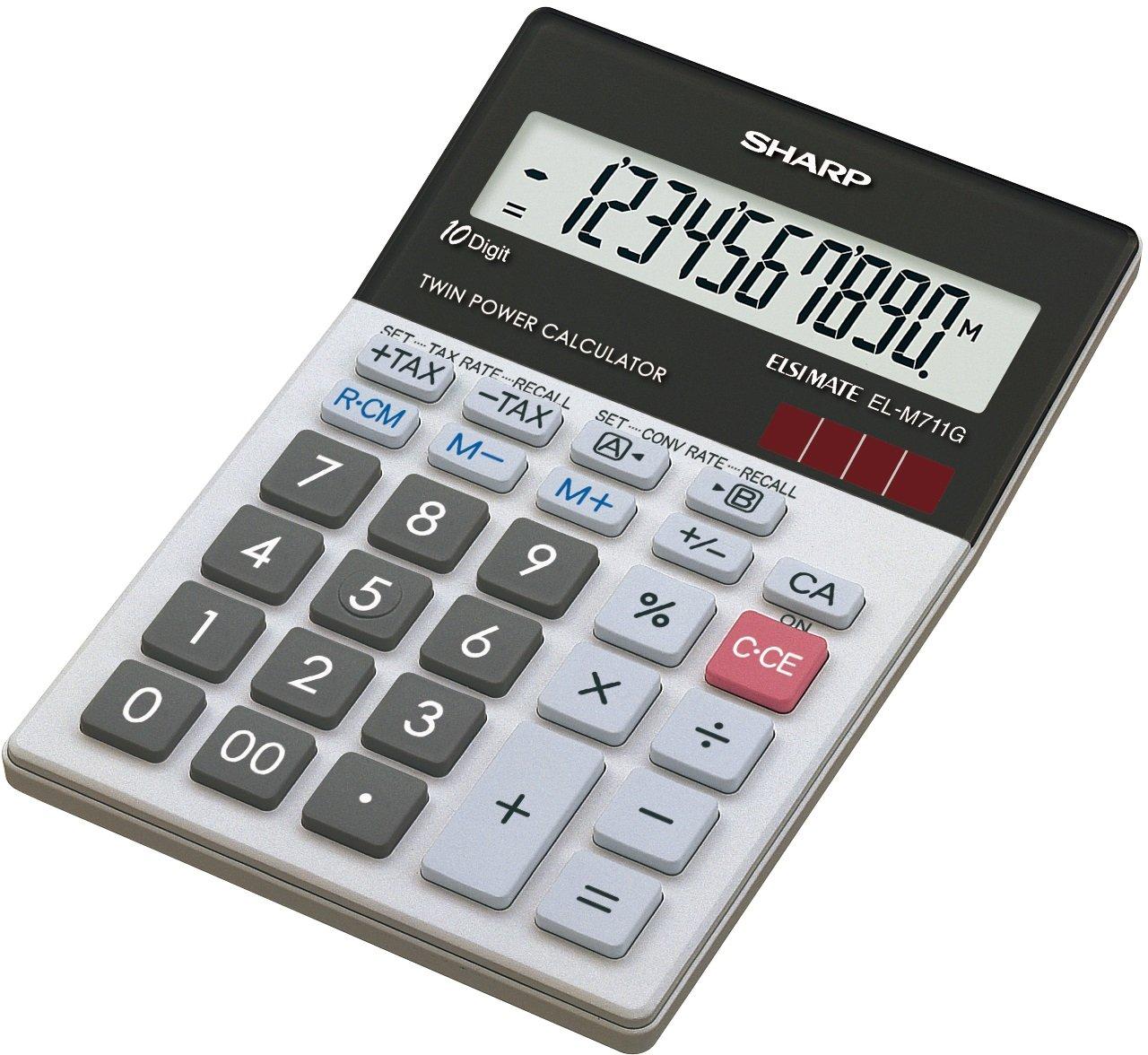 Sharp 10 Digit Stylish - Calcolatrice ELM711GGY