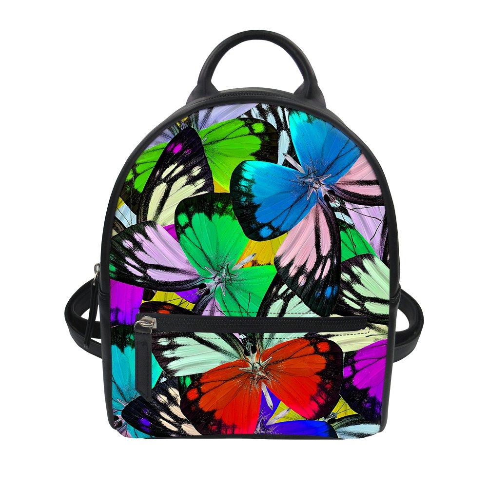 128e77fb9b6 Amazon.com   FOR U DESIGNS Butterfly Printing Small Backpacks for Teen Girls    Kids  Backpacks