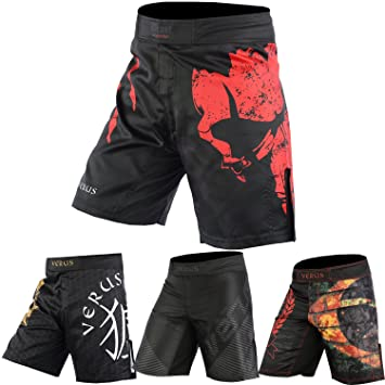 Deluxe Muay Thai Shorts in Black for Grappling Fight Kick Boxing MMA Training
