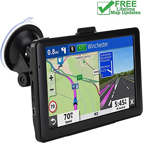Free Update Lifetime Map 7-inch HD Display Install The Latest Map of The United States 256MB-8GB Real Voice Broadcast Car GPS Navigation
