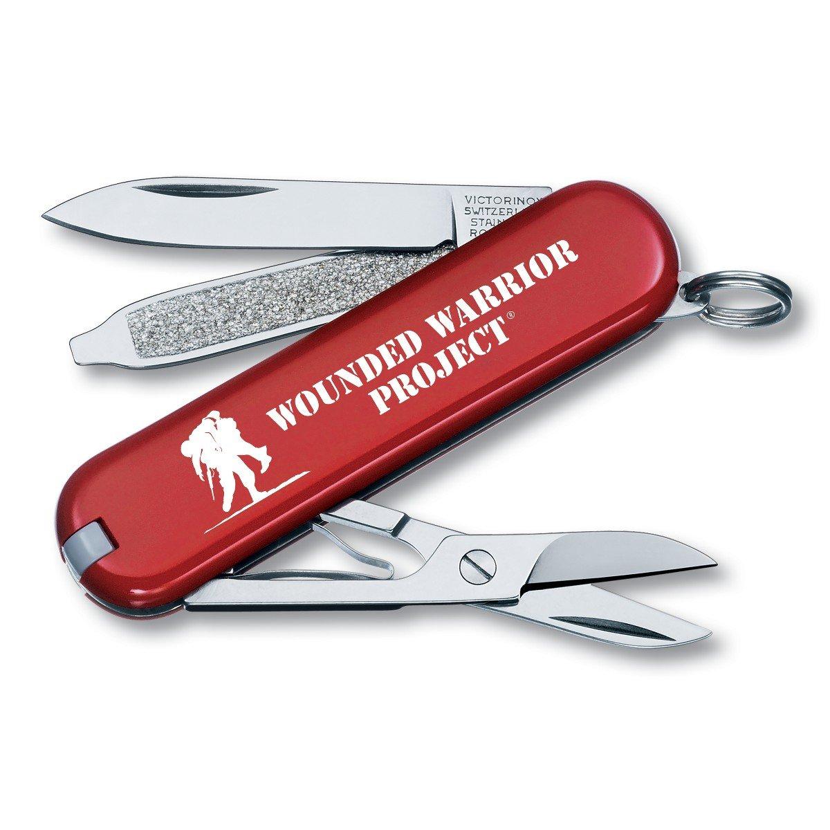 Victorinox Swiss Army Classic SD Pocket Knife, Red with WWP Logo