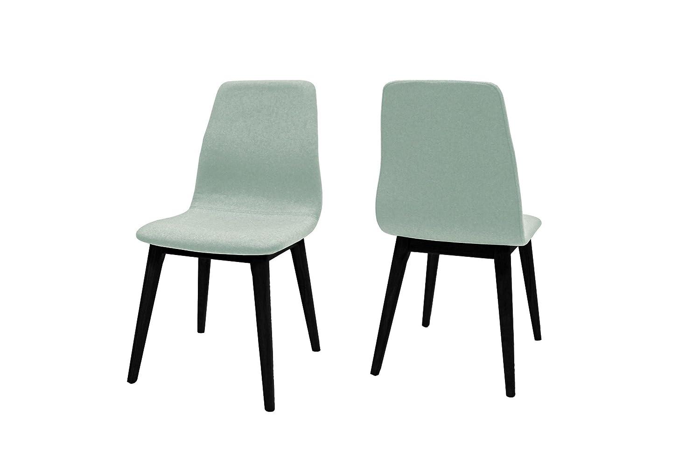 Canett Optima 4er-Set Stuhl schwarz hellgrün B47 x T57 x H93 cm