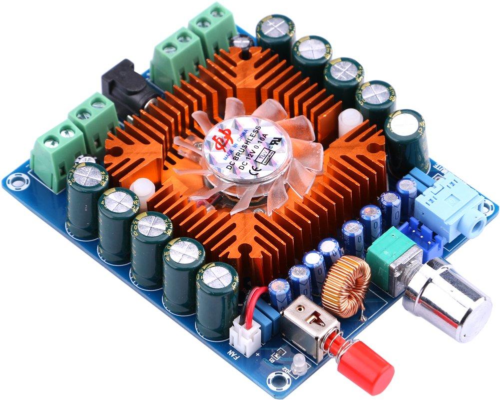 Yeeco Digital Audio Power Amplifier Ampli Board Stereo Amplify 2x100w Class D Circuit Hip4081a 200w Module 50w4 Channel Dc 12 16v Hifi Amp With Cooling Fan