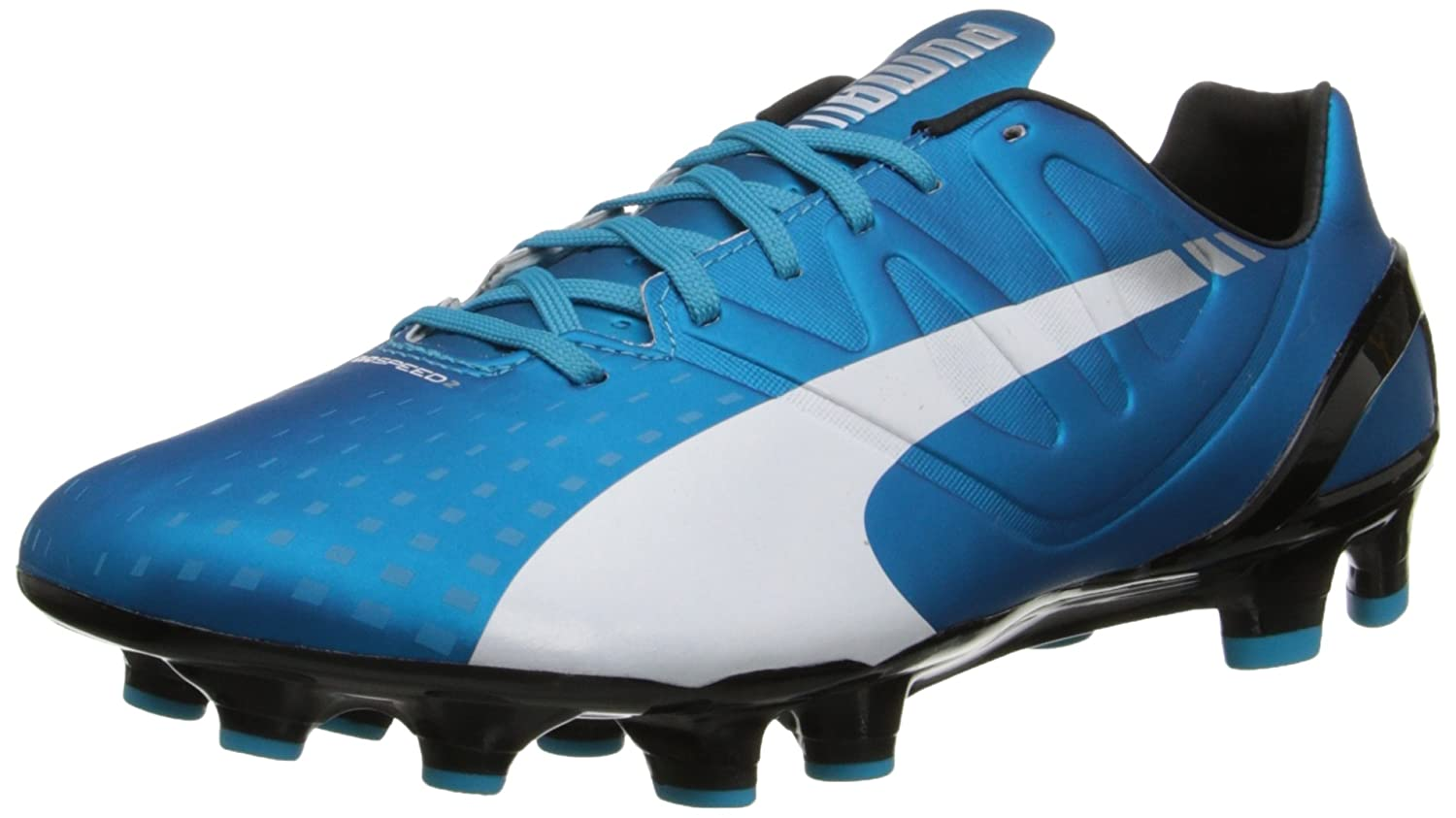 PUMA Men's Evospeed 2.3 Firm Ground Soccer Schuhe, Hawaiian Ocean Weiß schwarz, 8 M US