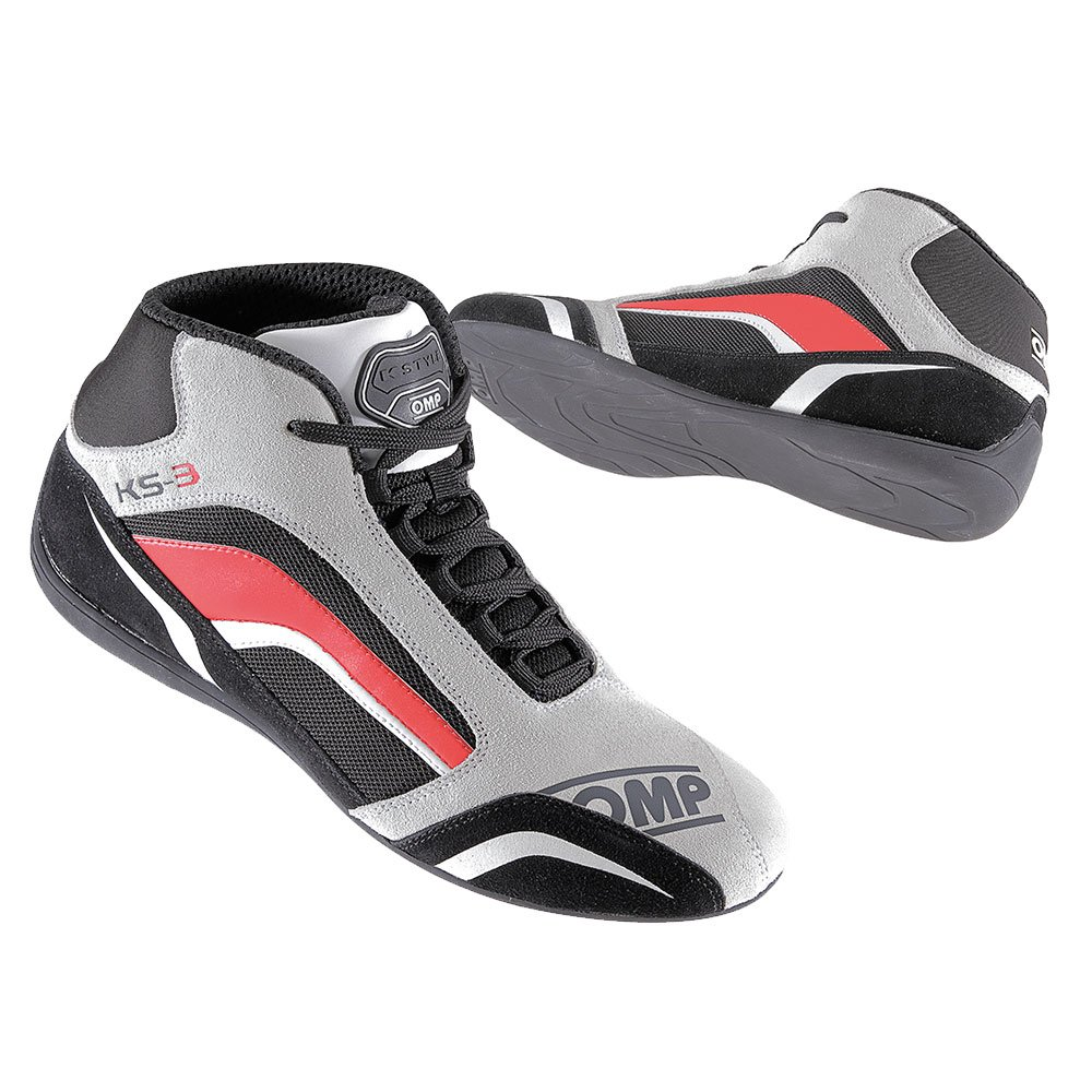 OMP OMPIC//81307044 KS-3/ Bottines de karting Noir//blanc//gris Taille 44