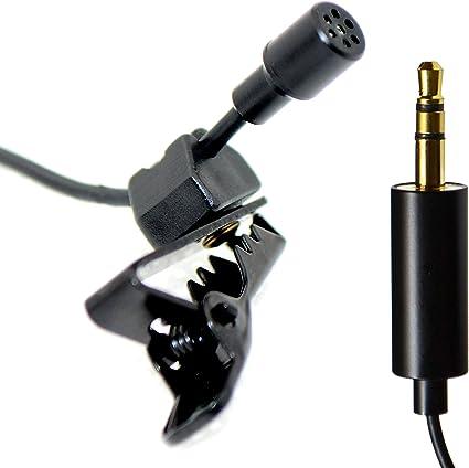 Ultradisk Micro micrófono de solapa 3 metros de oro de 3,5 mm ...