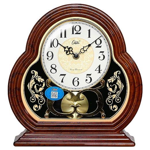 WJXBoos Silencioso Péndulo Reloj De Escritorio, Sala De Estar ...