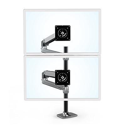 amazon com ergotron 45 549 026 lx dual stacking arm tall pole
