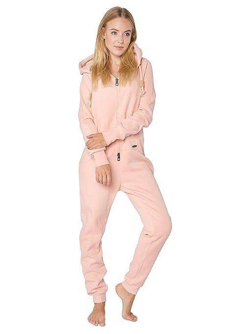 Eight2Nine Damen Sweat Overall   Kuscheliger Jumpsuit   Einteiler aus bequemen Sweat-Material einfarbig