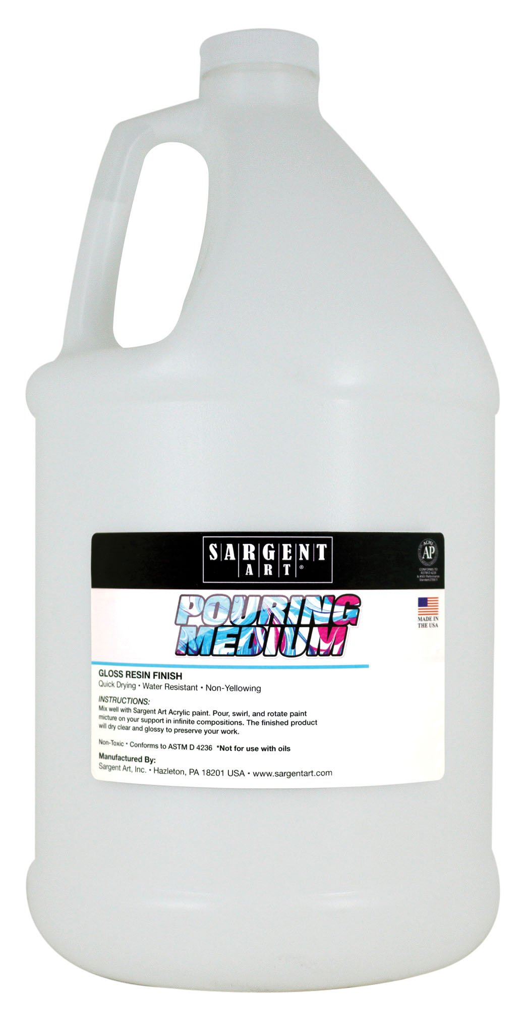 Sargent Art 22-8827 Pouring Acrylic Medium, 128 oz by Sargent Art