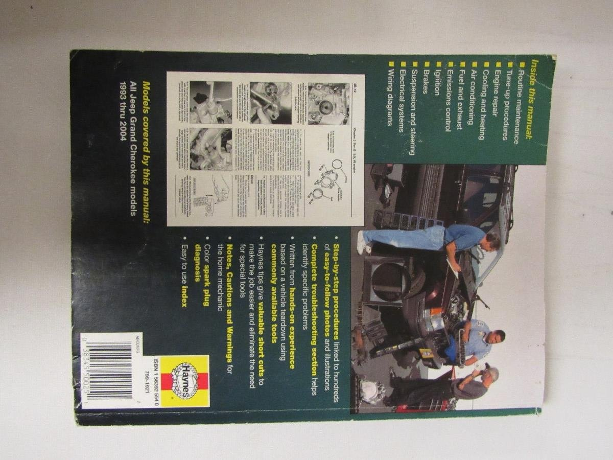 Jeep Grand Cherokee 1993 2004 Haynes Repair Manual Of Unknown On Heater Wiring Diagram 01 June Books
