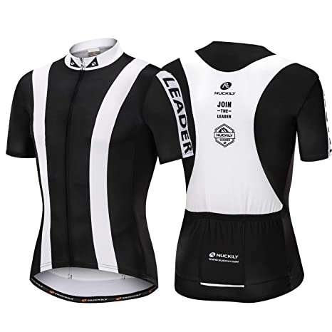 e6159d9736b Image Unavailable. Image not available for. Color  NUCKILY Men s Cycling  Jerseys ,Biking Shirts Short Sleeve ,Bike Clothing Full Zipper