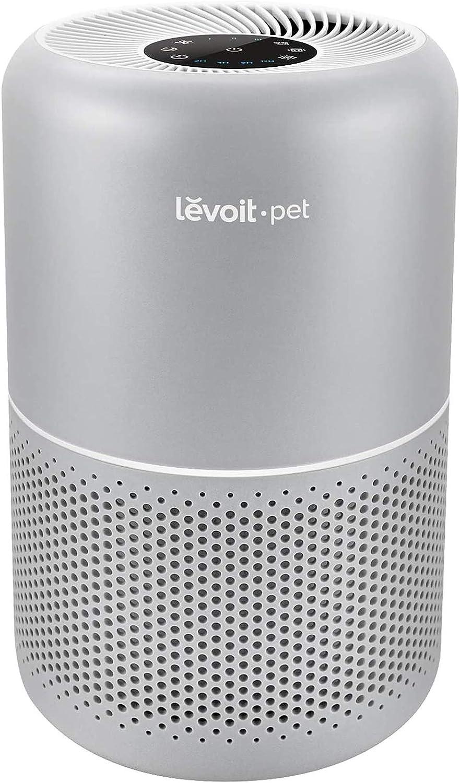 Levoit Purificador de Aire para Mascotas y Alergias con Filtro HEPA H13 y Carbón Activado, Función Silenciosa con Modo de Sueño 24dB, Temporizador, Capturar Polvo, Humo y Olor, hasta 40m², Core P350