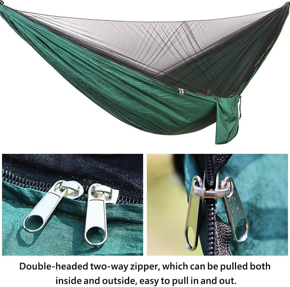 TOPCHANCES Upgrade Ultralight Portable Nylon Camping Hammock Mosquito Net with Rain Fly Tent Tarp for Outdoor Windproof Swing Sleeping Hammock Bed Anti-Mosquito