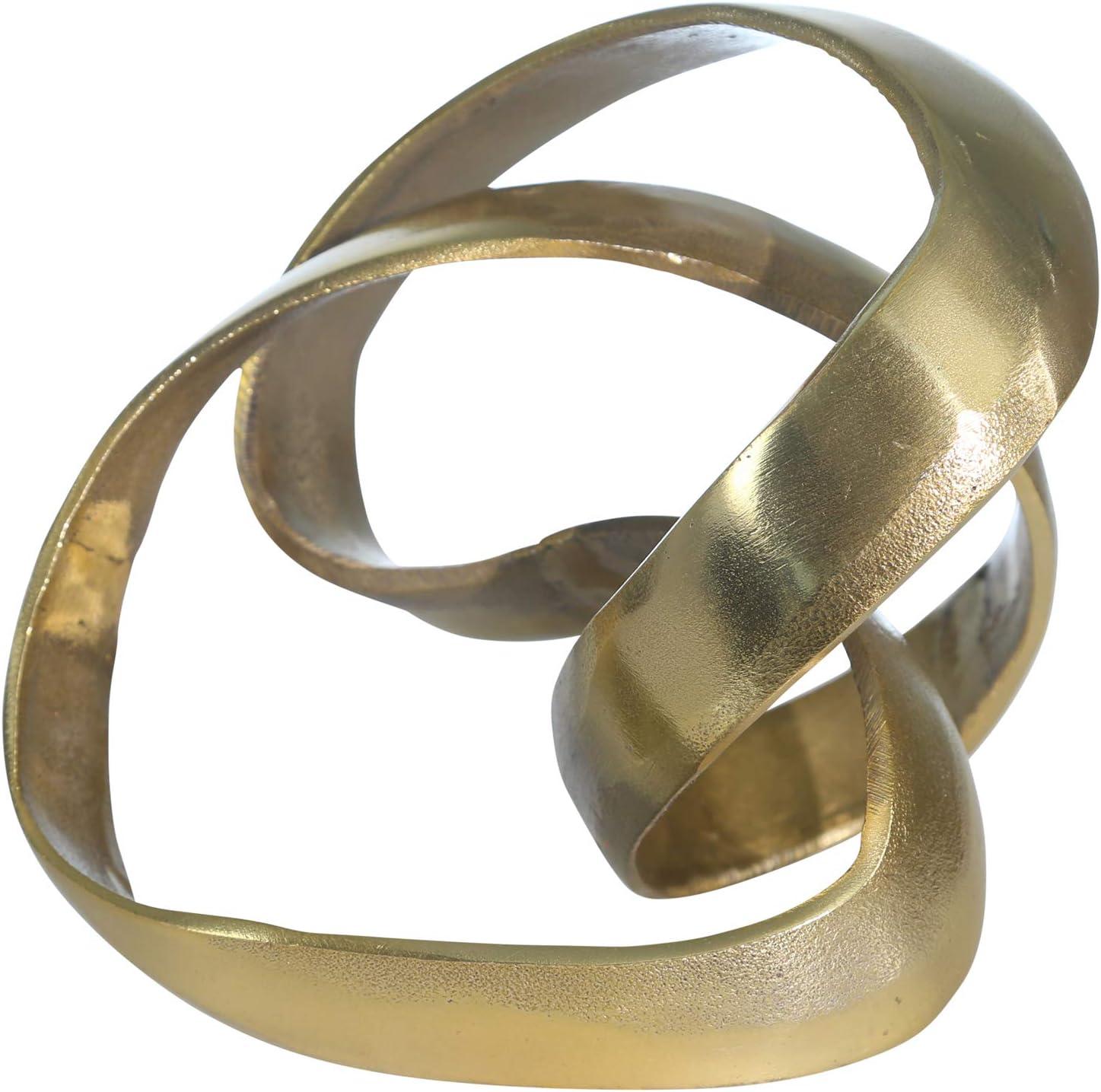 Sagebrook Home 14585-01 Aluminum Knot Sculpture, 7