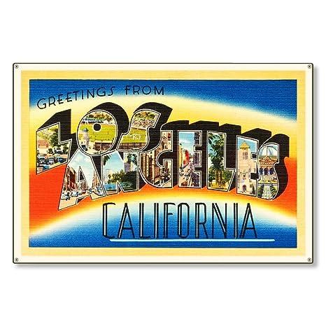 Amazon.com: Los Ángeles California CALNIA CALIDAD Antiguo ...