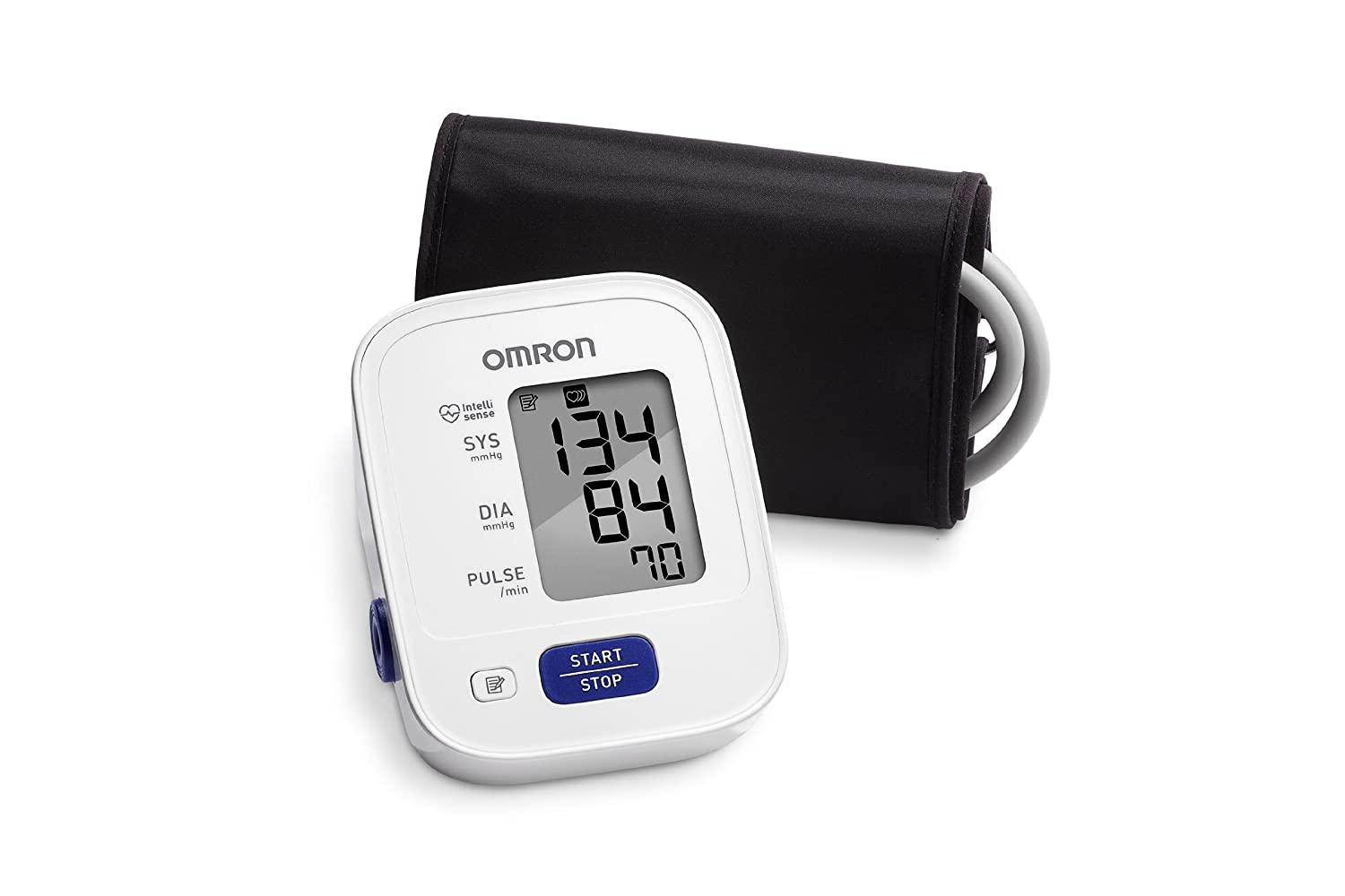 OMRON 3 Series Upper Arm Blood Pressure Monitor 14-Reading Memory, Soft Wide-range Cuff, 1 Dr. Recommended By OMRON