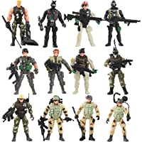 Liberty Imports 12 Pack - Special Forces Army Combat SWAT Soldier Action Figures with Military Weapons and Accessories…