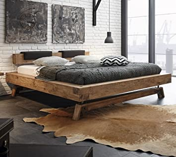 Amazon De Hasena Oak Wild Vintage Bett Bloc 16 Kopfteil Inca Kufen