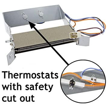 Spares2go resistencia + termostatos para Ariston AS70C AS70CX AS700CX AS700C para secadora (2300 W)
