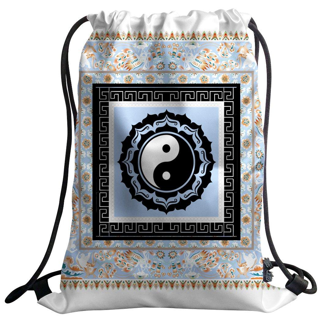 sxchenジムバッグ袋巾着スポーツバックパックTai Chi gossip中国スタイル B07C6YNFCH