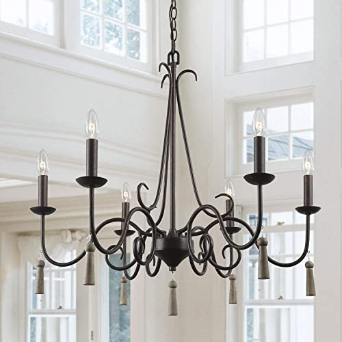 LALUZ Rustic French Country Chandelier