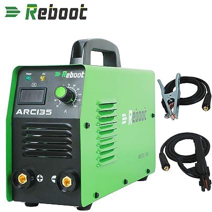 REBOOT SOLDADOR DE ARCO ARC135 DC 110V / 220V MMA Inversor Dual ...