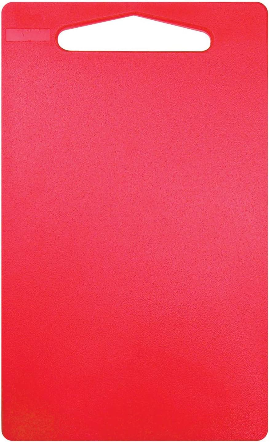 Linden Sweden Anita Cutting Board with Handle- Safe for Meat and Produce, Won't Dull Knives- Slim, Lightweight Design for Easy Storage, Dishwasher-Safe, Sm, Red-9.25