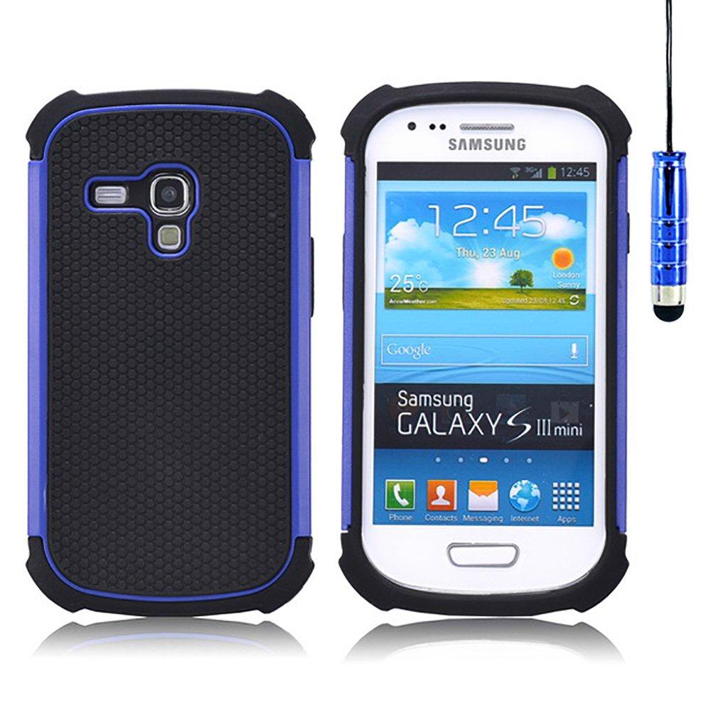 32nd® Funda Rígida Anti-Choques de Alta Proteccion para Samsung Galaxy S3 Mini (S iii Mini) i8190 Carcasa Defensora de Doble Capa - Azul